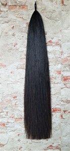 PEX inzetstaart natuurlijk zwart, 94 cm.