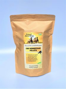 Hennepzaad pellets CBD voor paarden